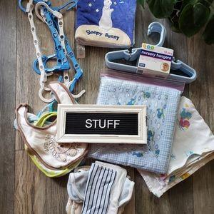 Other - Baby Stuff   Nursery Set, Bibs, Quilt, Quiet Book